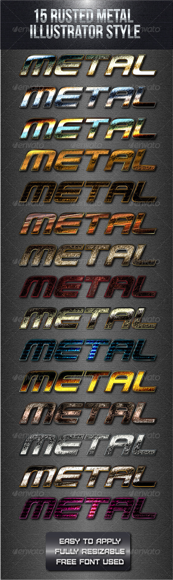 GraphicRiver 15 Rusted Metal Illustrator Style 4871551