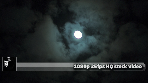 Moon Over Clouds Time Lapse 2