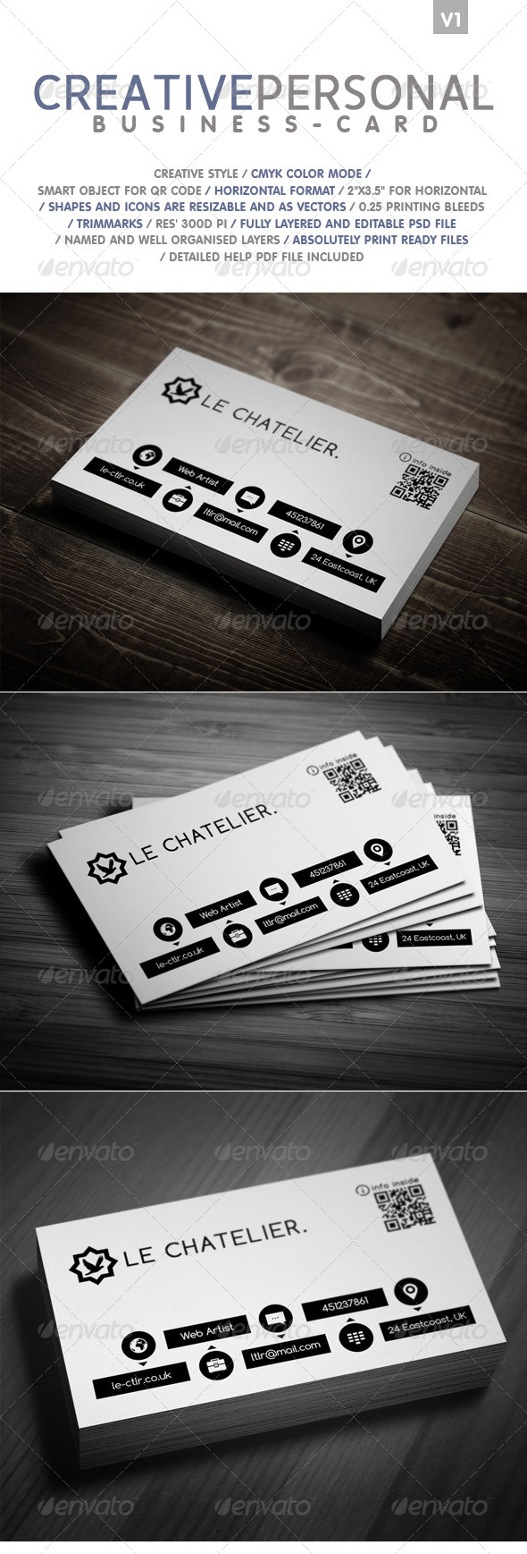 GraphicRiver Creative Personal Business card 4871718