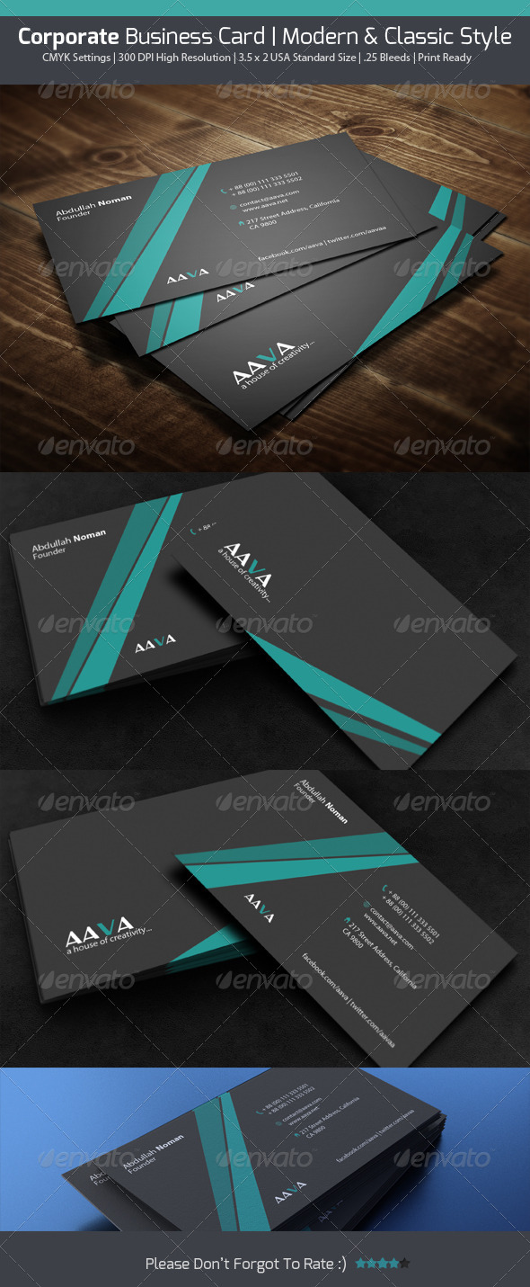 GraphicRiver Corporate Business Card 4615440