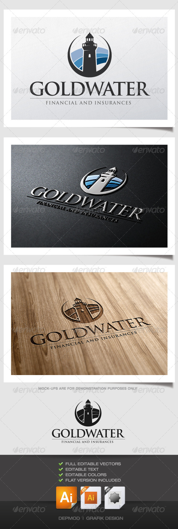 GraphicRiver Goldwater Logo 4871856