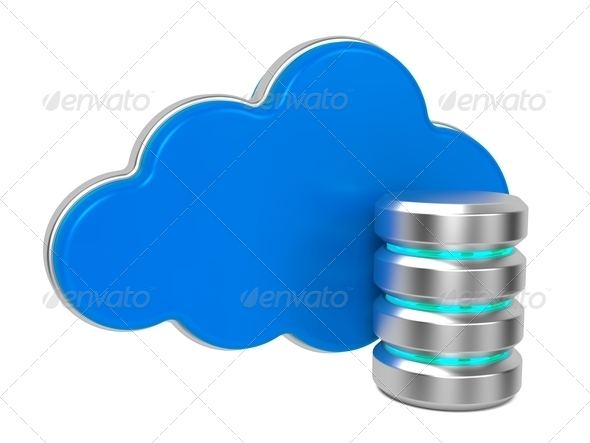 Servers and Clouds. - Stock Photo - Images