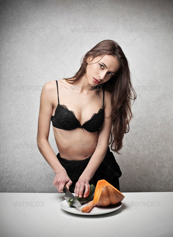 sensual chef - Stock Photo - Images