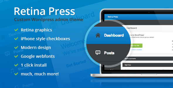 CodeCanyon Retina Press Wordpress admin theme 4872562