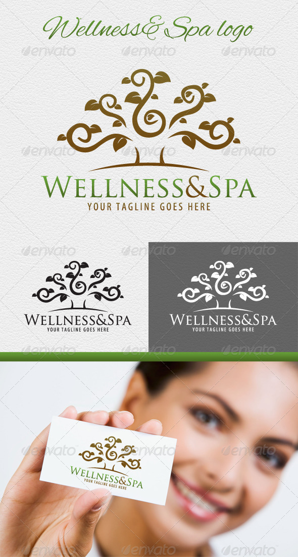 GraphicRiver Wellness and Spa Logo 4598548