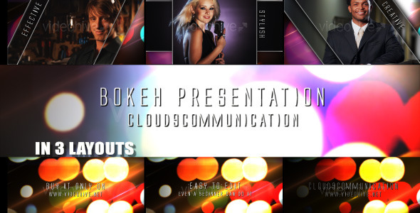 After Effects Project - VideoHive Bokeh Presentation Pack 3 Layouts 503254