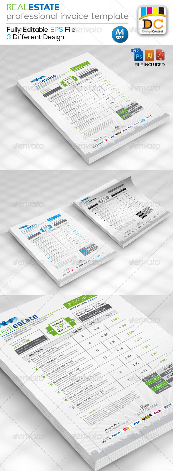 GraphicRiver Real Estate Corporate Creative Invoices 4873596