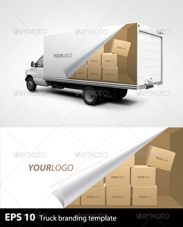 GraphicRiver Truck Branding Template 503411