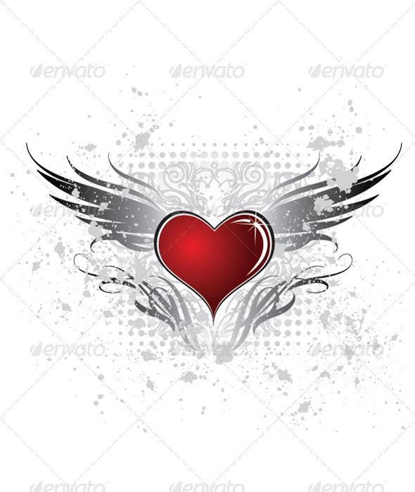 GraphicRiver Heart Wing 4874009