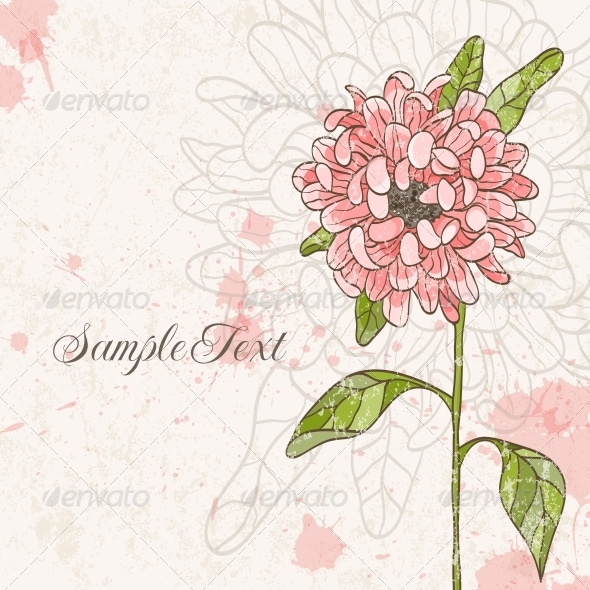 GraphicRiver Hand Drawn Flower 4874732