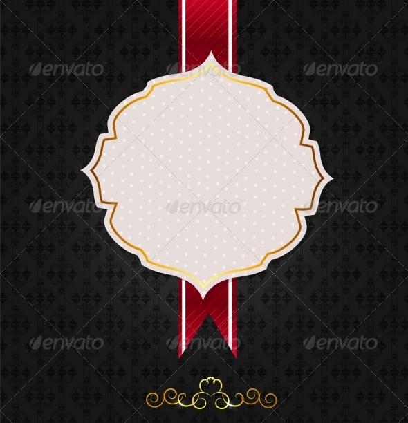 GraphicRiver Vintage Background with Golden Frame 4874739