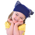 Little Girl with Bandana Hat on White - PhotoDune Item for Sale