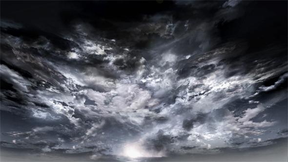 Fast Dark Dramatic Clouds