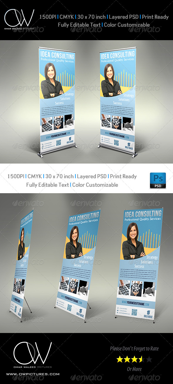 GraphicRiver Corporate Roll-Up Signage Banner Vol.2 4874998