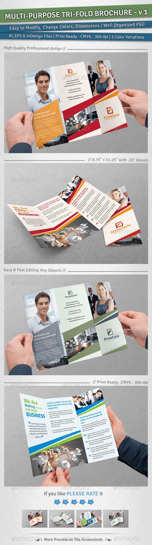 GraphicRiver Multi-Purpose Tri-Fold Brochure Volume 1 4875200