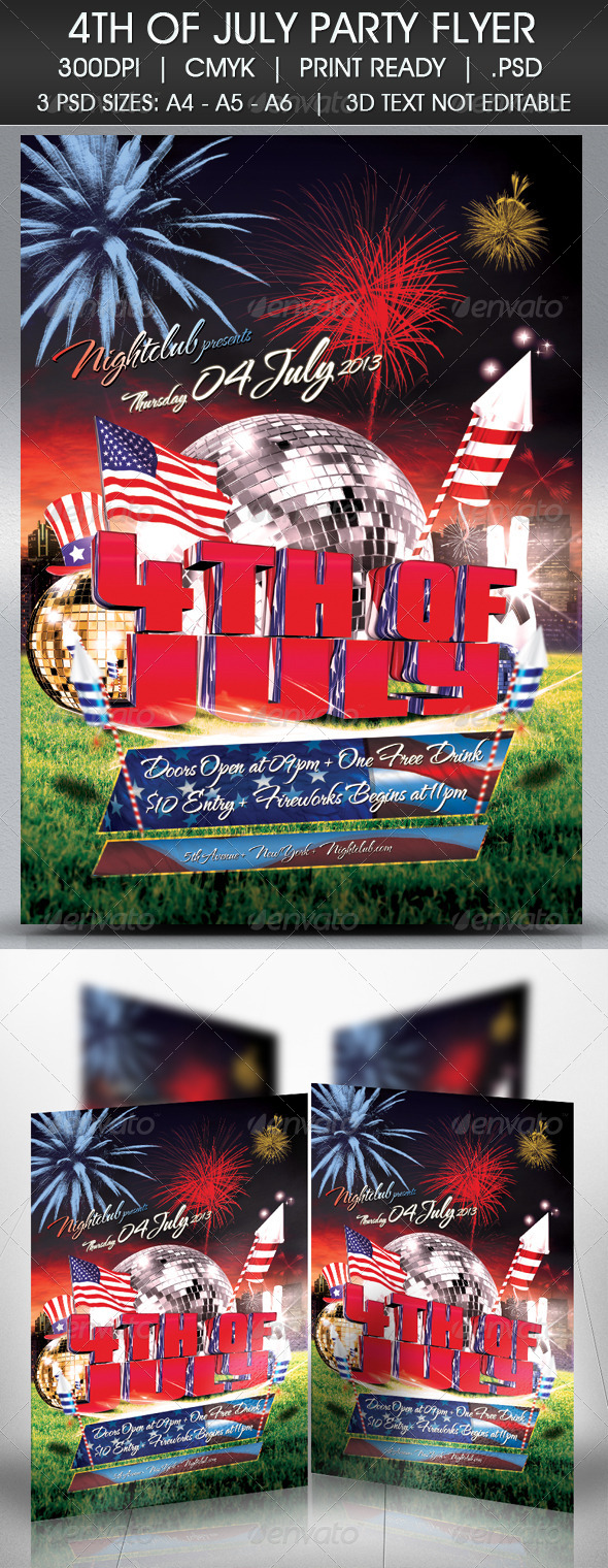 GraphicRiver 4TH OF JULY FLYER 4875261