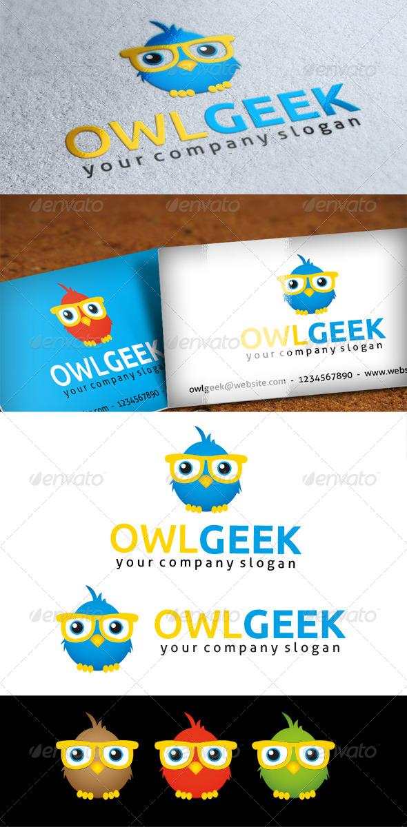 GraphicRiver Owl Geek Logo 4875563