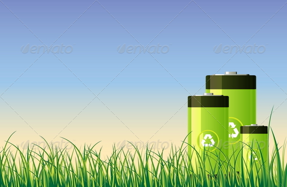 GraphicRiver Green Batteries 4876002