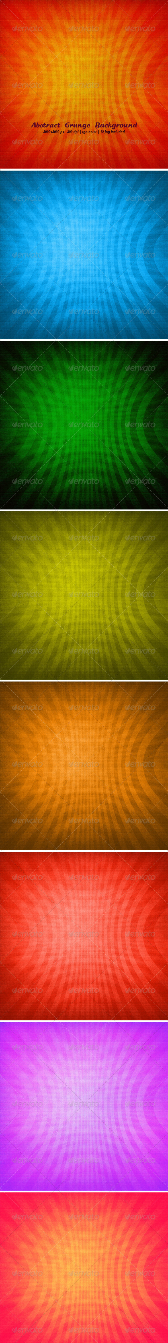 GraphicRiver Abstract Grunge Background Set 4876301