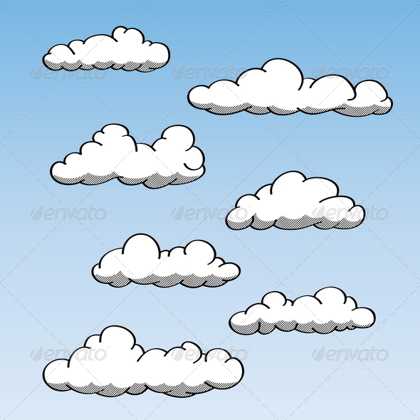 GraphicRiver Hand Drawn Clouds 4876615