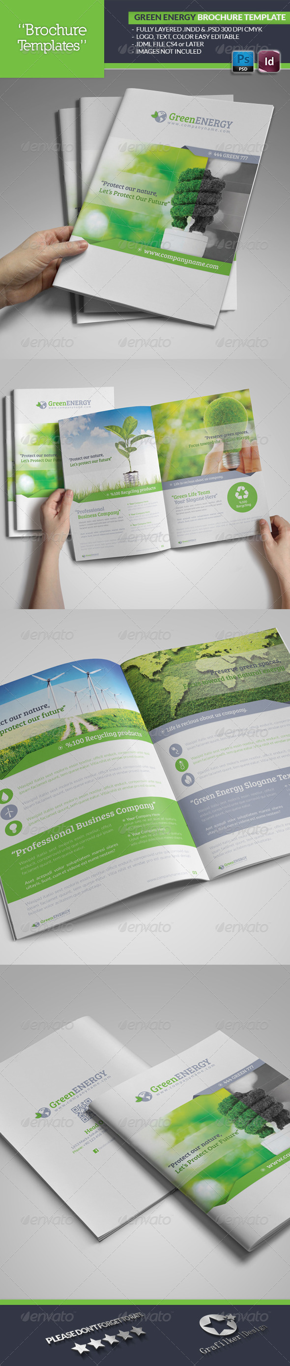 GraphicRiver Green Energy Brochure Template 4876697