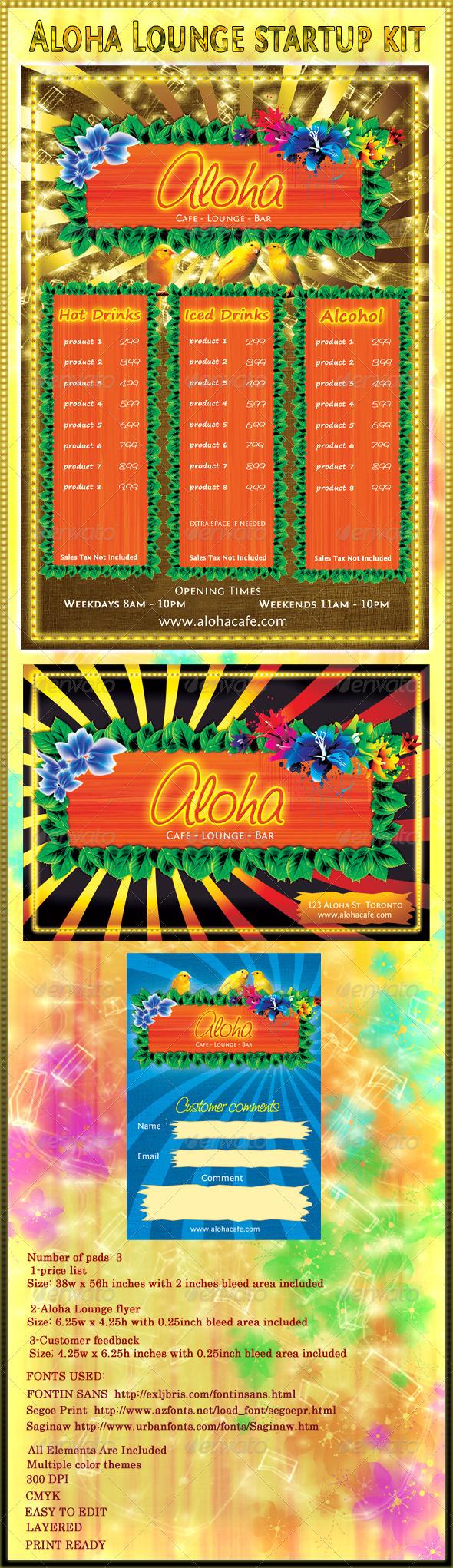 Aloha Lounge Startup kit