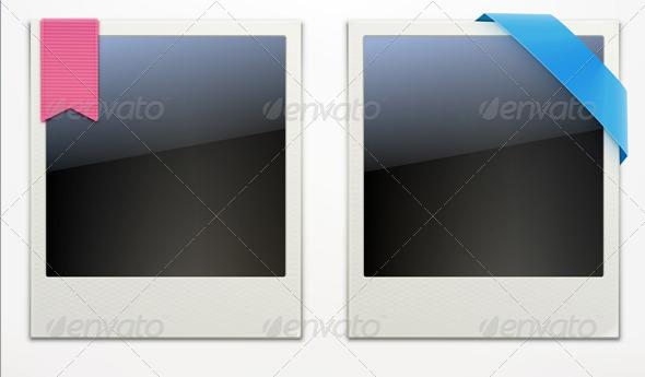 GraphicRiver Two Retro Polaroid Photo Frames 4877681