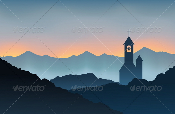 GraphicRiver Monastery on the Mountain 4877856
