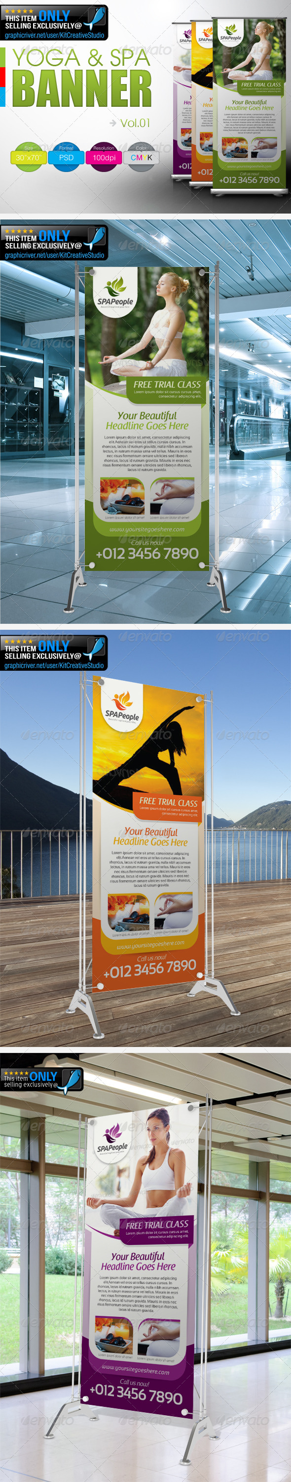 GraphicRiver Simple Yoga & SPA Banner Vol.1 4877865