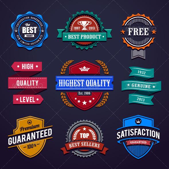 GraphicRiver Vintage Premium Quality Labels 4878197