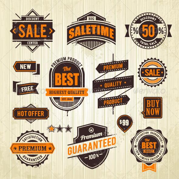 GraphicRiver Grunge Sale Emblems 4878410