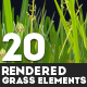 20 Rendered Grass Elements - GraphicRiver Item for Sale