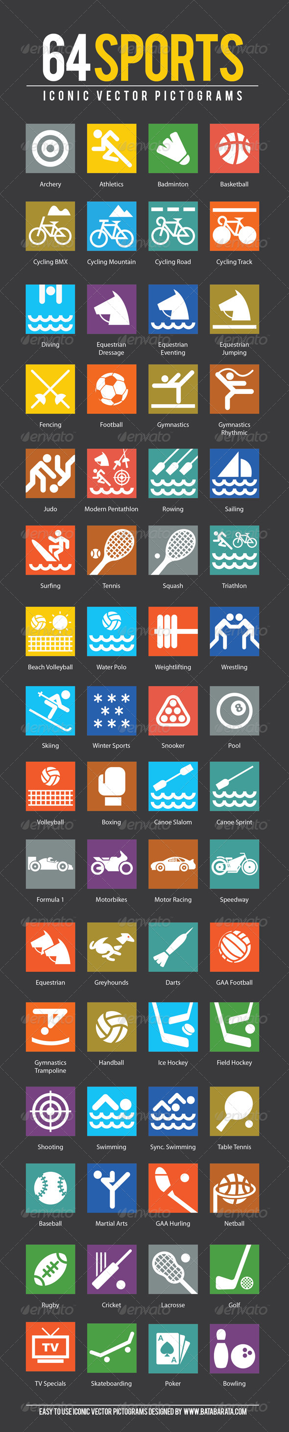 GraphicRiver Sport Icons 4879674
