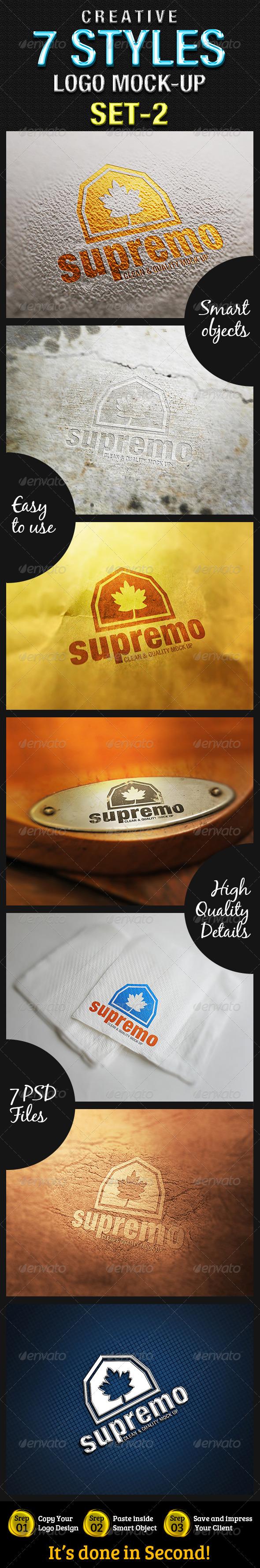 GraphicRiver 7 Styles Creative Logo Mock-Up SET 2 4860071