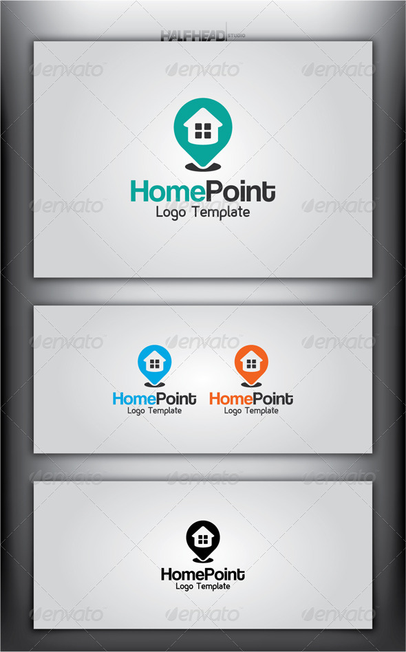 GraphicRiver HomePoint Logo Template 4879722