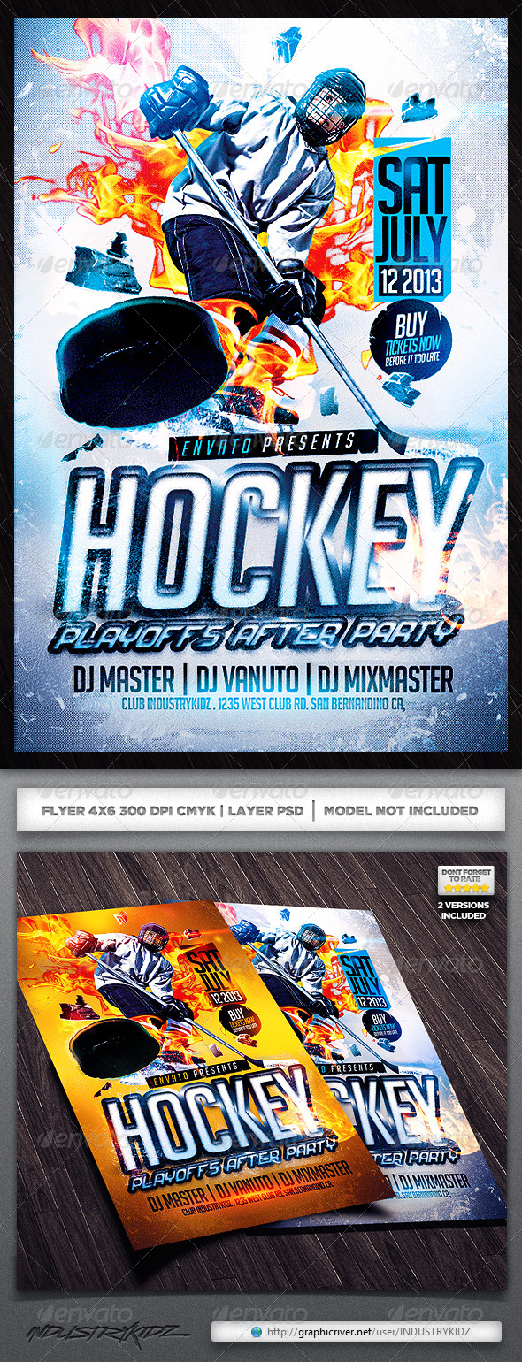 GraphicRiver Hockey Flyer Template 4879788