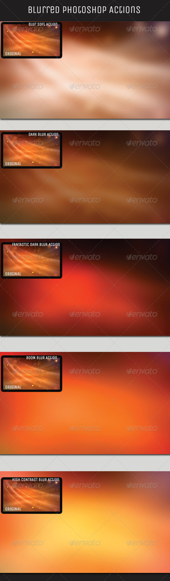GraphicRiver Blur Background Action Set V1 4879875