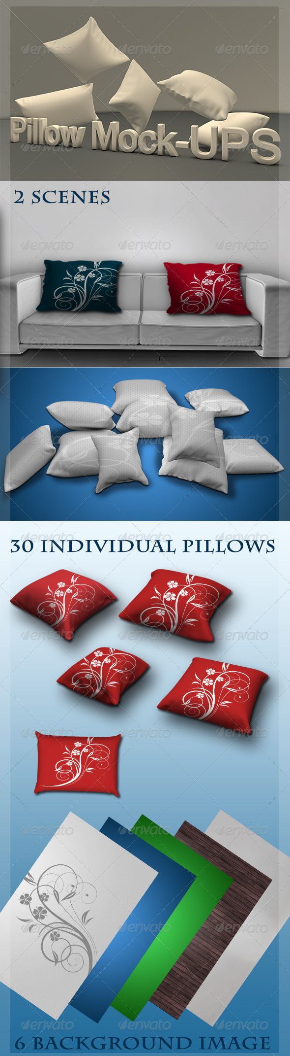 GraphicRiver Pillow Mock-ups 4859963