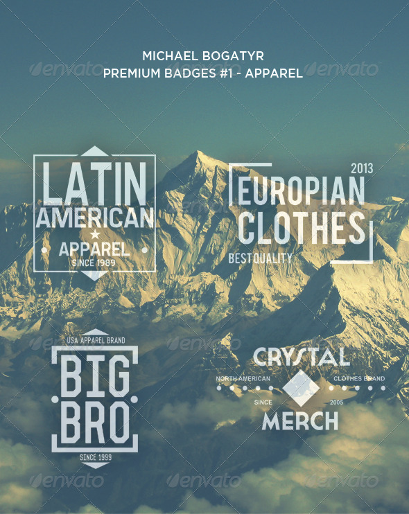 Premium Badges #1 - Apparel - Badges & Stickers Web Elements