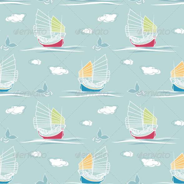 GraphicRiver Sailing Pattern 4880182
