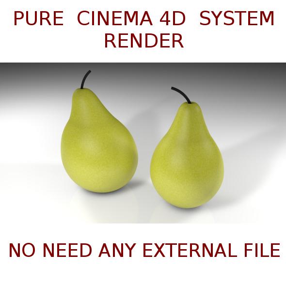 3DOcean 2 Pears 3D 4880207