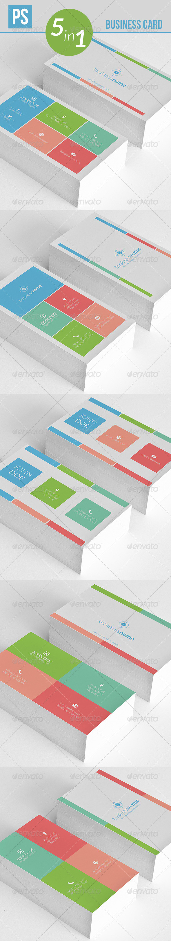 GraphicRiver Metro Business Card 4796155