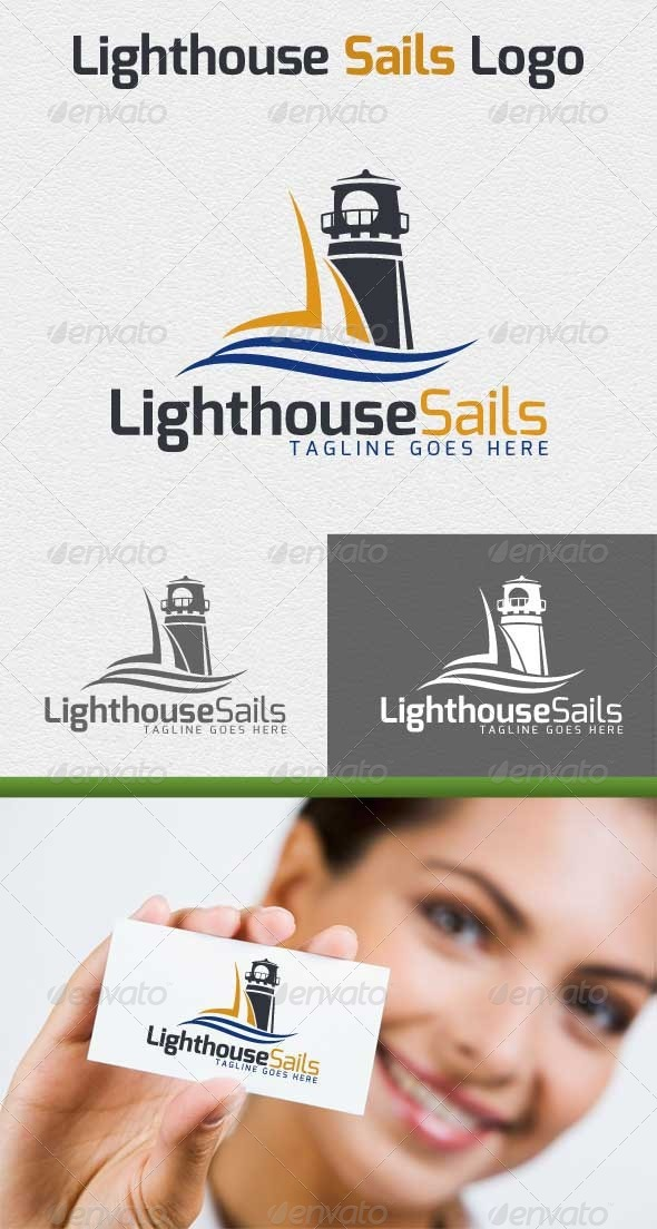 GraphicRiver Lighthouse Sails Logo 4849550