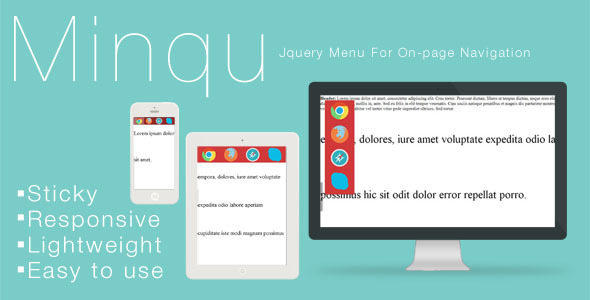 Minqu: Jquery Menu For On-page Navigation - CodeCanyon Item for Sale