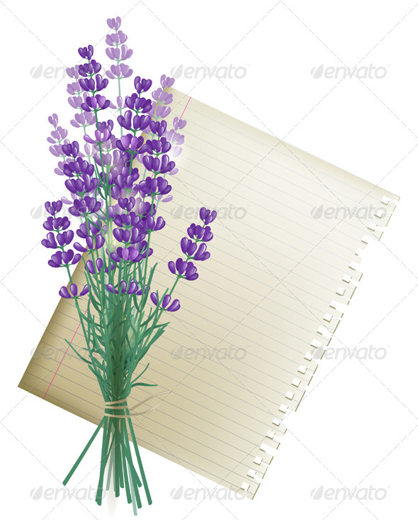 GraphicRiver Lavender Bunch 4880396