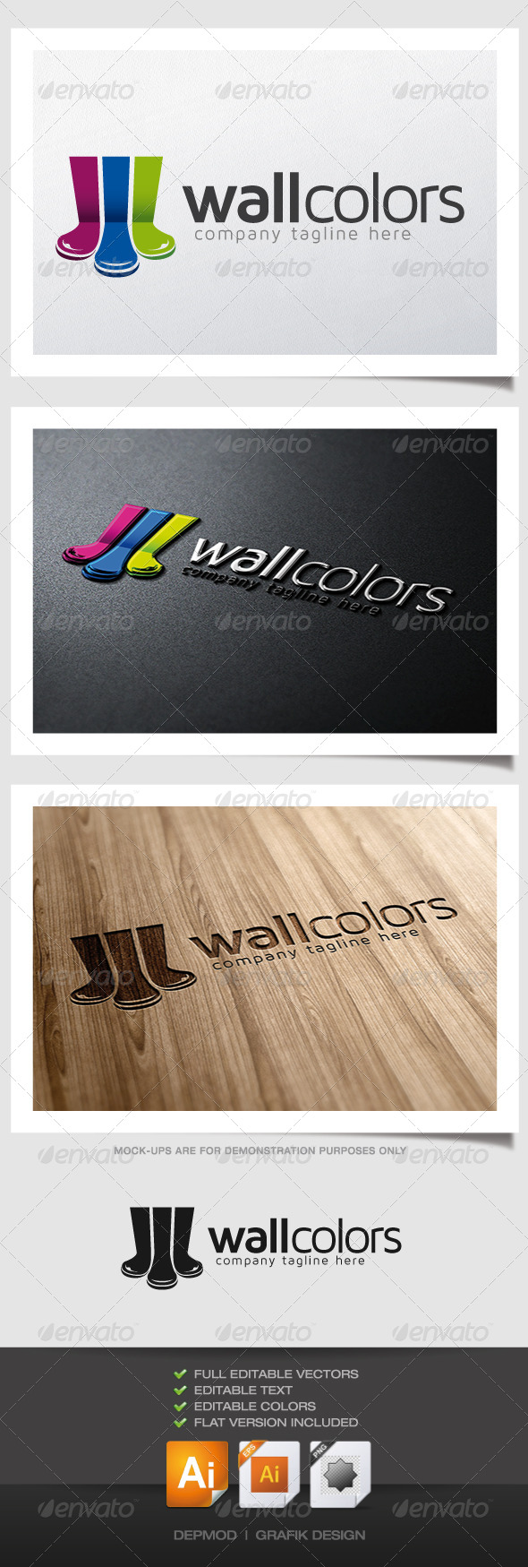 GraphicRiver Wall Colors Logo 4880534
