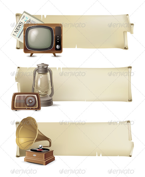GraphicRiver Vintage Banners 4880837