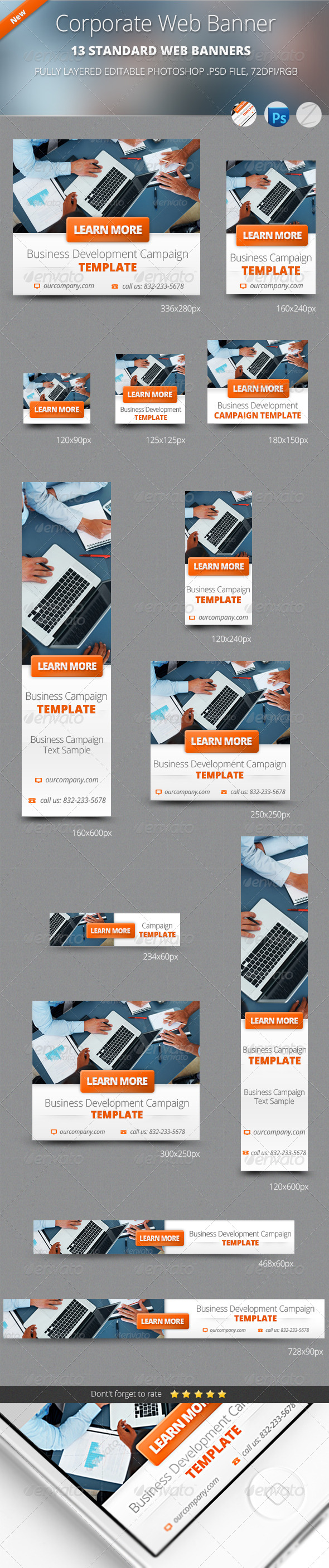GraphicRiver Business Corporate Web Banners 4880945