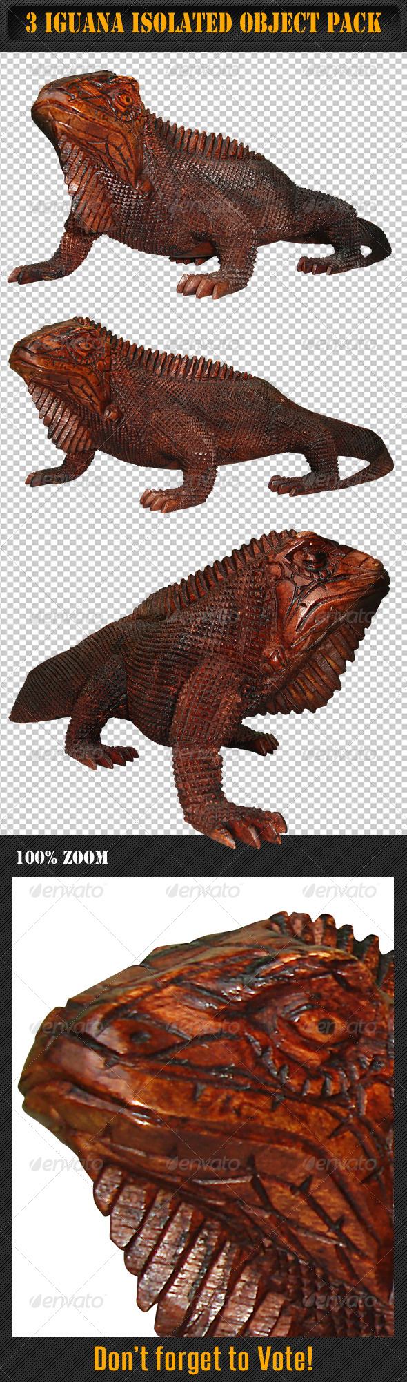 GraphicRiver Iguana Isolated Object Pack 4881389
