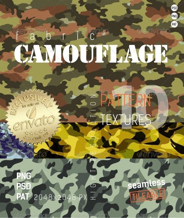 3DOcean Camouflage Fabric Textures 4881459